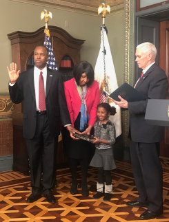 Dr. Ben Carson swearing in as HUD's 17th Secretary (March 2017)